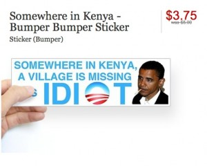Racist bumper stickers now being discounted as loser merchandise is on the rise.