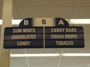Walgreens aisle sign