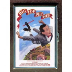 "Cigarette case promoting the movie ""Big Top Pee Wee"" (1988), holds 16 regular or 100 mm cigarettes. Still available at Amazon.com"