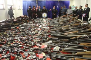 Camden County, New Jersey gun buyback program brought in 1,137 firearms. Photo credit Tim Hawk, South Jersey Times