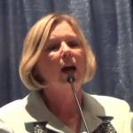 Grand Junction Area Chamber of Commerce President Diane Schwenke, who turned the G.J. Chamber into a branch of the Tea Party (Photo Credit: YouTube)