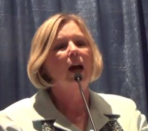 Diane Schwenke speaks to Mesa County Republicans May 7 (Photo Credit: YouTube)