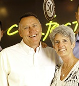 Doug and Jamee Simons, owners of Enstrom's Candies