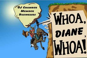 Cartoon local citizens created to oppose the direction the G.J. Chamber of Commerce took with respect to local businesses