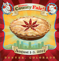 Poster advertising the 2014 Denver County Fair
