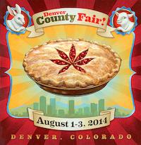 Poster advertising the 2014 Denver County Fair
