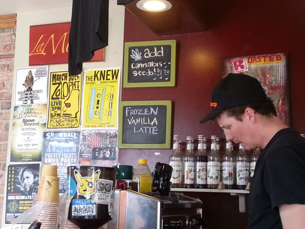 Roasted, a popular coffee bar at 5th Street and Colorado Ave., now offers to add cannabis seeds to any item for $1.50