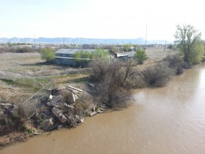 The Brady Trucking parcel by the Colorado river. The Chamber's promise of an influx of $70k/year jobs if voters upheld light industrial zoning for this parcel never came to fruition.