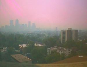 Winter air pollution in Denver, on Colorado's front range