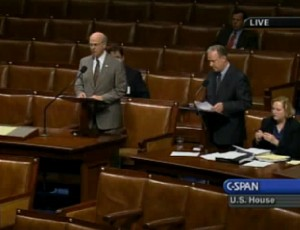 "This photo shows how empty the chamber was on the day Congress voted to suspend House Rule XXI, Clause 6 and rename ""Colorado Canyons National Conservation Area"" after then sitting Congressman Scott McInnis (R-CO)"