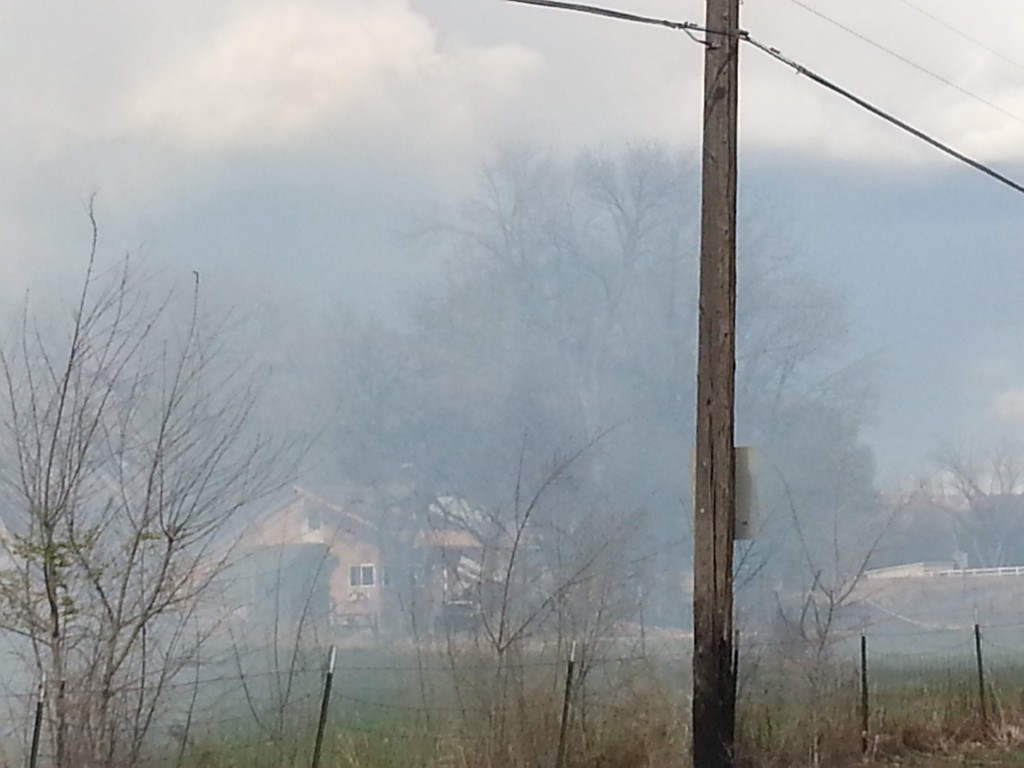 Spring open burning at G and 26 Roads create a traffic hazard as well as a respiratory hazard for many residents.
