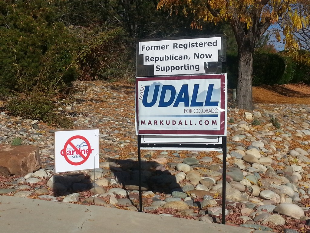 This yard sign, recently spotted on north 12th Street, provides evidence that Mesa County's long-time conservative political ideology is starting to change, as more local residents start to understand the folly, and dangers, of electing Republicans to office.