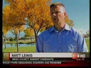 Mesa County Sheriff-Elect Matt Lewis (Photo: KREX-TV)