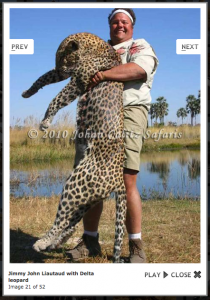 Jimmy John with a dead endangered leopard.