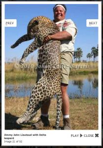 Jimmy John with a dead endangered leopard.