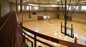 Fruita Rec center's indoor basketball courts and elevated walking track around the courts. Who wouldn't want a terrific facility like this? Why aren't G.J. citizens worth this?