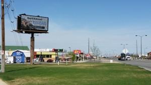 WCAF billboard