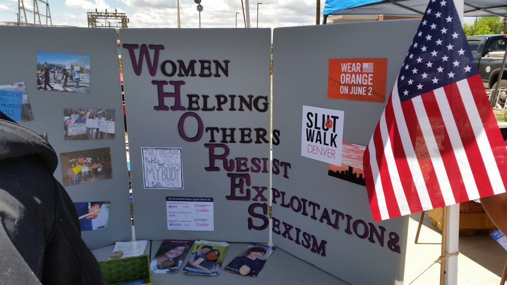 The WHORES booth at the 2015 Pride Festival