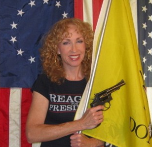 """Local conservative Marjorie Haun, who promotes the use of firearms and writes in her blog, """"ReaganGirl.com,"""" that poverty is a lifestyle choice, white privilege is a myth and marijuana use """"turns young men into biological young women."""""""