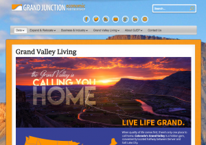 Screen shot of GJEP's website luring people to relocate to the Grand Valley. Get the whole story from residents before you buy!
