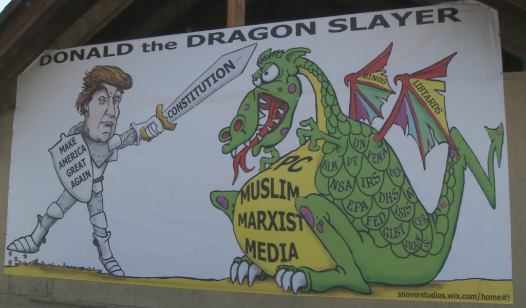 Donald the Dragon Slayer billboard