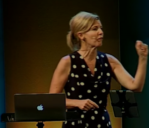 """June Fellhauer, the local religious woman behind the """"Sleeping Beauty"""" Christian worship event at CMU for adolescent girls. [From a July, 2015 YouTube video titled """"Women's Purpose.""""]"""