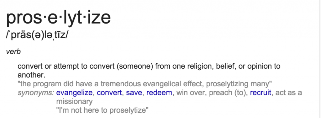 Proselytize definition