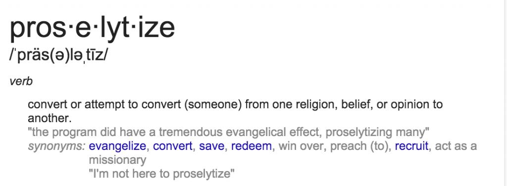 Proselytize definition