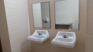 The sinks in the facility
