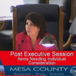 Rose Pugliese, the Mesa County Commissioner in charge of the agencies administering food assistance programs
