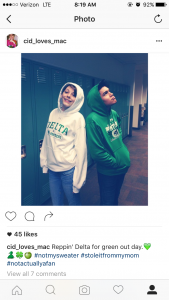 Cidney's Instagram post