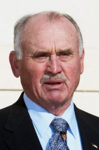 Sitting Mesa County Commissioner John Justman