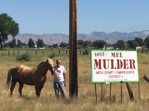 Some low-life is stealing Mel Mulder's hand-made campaign signs. Turn them in for a reward!