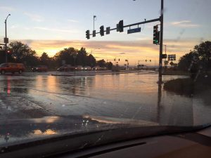 Recent flooding at First and Grand in Grand Junction, after 1/2 inch of rain fell in an hour