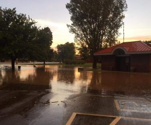 Sherwood Park flooding after a brief summer, 2016 heavy rainstorm