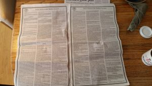 The entire November ballot is in today's Daily Sentinel, and it takes up 6 pages of fine print, like these two.