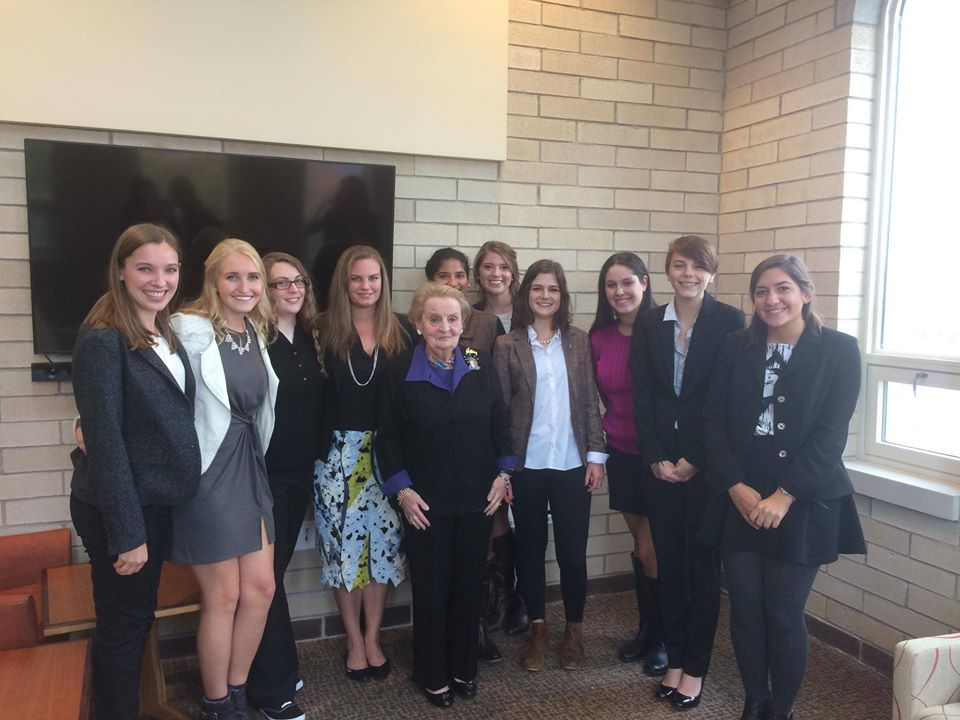 Cidney Fisk was one of a small group of DU students who were privileged to meet and be able to converse at length with former U.S. Secretary of State Madelyn Albright on October 12