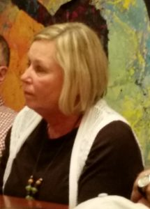 CLUELESS - Diane Schwenke attending a meeting at Main Street Bagels this morning