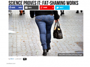 Article published by Breitbart News that encourages fat-shaming of women, the way Trump did to the former Miss Universe, Alicia Machado