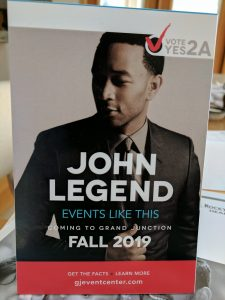 John Legend Table Tent